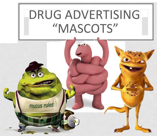Drug Ad Mascots