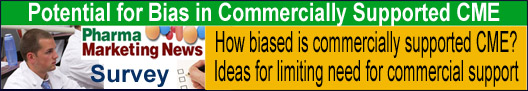 SURVEY: Potential for Bias in Commercially Supported CME