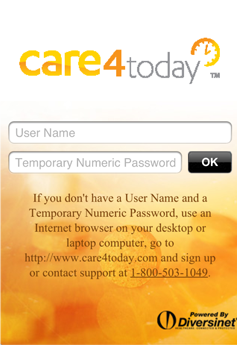 Care4today Screen