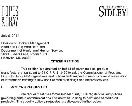 Citizen's Petition