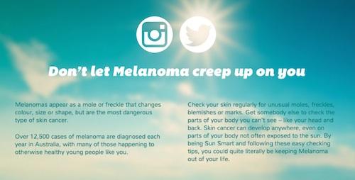 creepy melanoma campaign