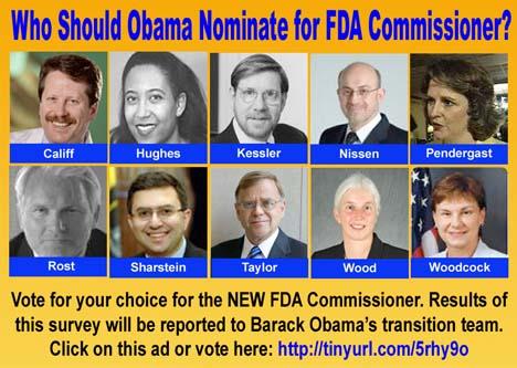 Vote for New FDA Commissioner