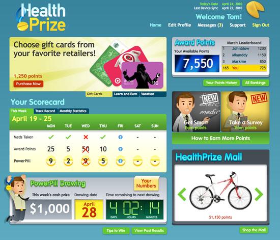 healthPrize Dashboard