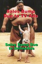TV vs Online Sales Bump