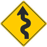 Windy Road Sign